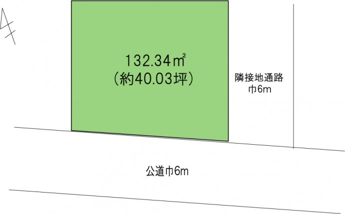 寒川町一之宮2丁目売地 区画図